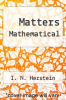 cover of Matters Mathematical