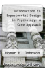 cover of Introduction to Experimental Design in Psychology: A Case Approach