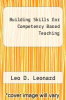 cover of Building Skills for Competency Based Teaching