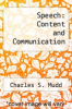 cover of Speech: Content and Communication (5th edition)