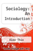 cover of Sociology: An Introduction