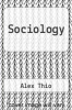cover of Sociology (2nd edition)