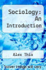 cover of Sociology: An Introduction (2nd edition)