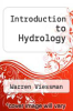 cover of Introduction to Hydrology (3rd edition)