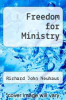 cover of Freedom for Ministry