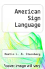 cover of American Sign Language