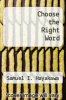 cover of Choose the Right Word