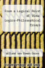cover of From a Logical Point of View: Logico-Philosophical Essays