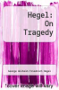 cover of Hegel: On Tragedy