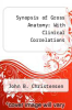 cover of Synopsis of Gross Anatomy: With Clinical Correlations (4th edition)