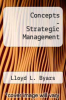 cover of Concepts - Strategic Management (3rd edition)