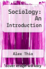 cover of Sociology: An Introduction (3rd edition)