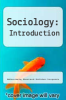 cover of Sociology: Introduction (1st edition)