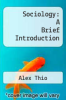 cover of Sociology: A Brief Introduction (2nd edition)