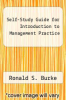 cover of Self-Study Guide for Introduction to Management Practice