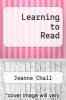 cover of Learning to Read