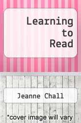 Cover of Learning to Read EDITIONDESC (ISBN 978-0070103825)