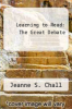 cover of Learning to Read: The Great Debate
