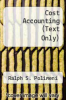 cover of Cost Accounting (Text Only) (3rd edition)