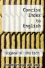 cover of Concise Index to English