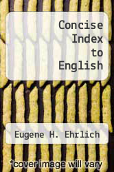 Cover of Concise Index to English EDITIONDESC (ISBN 978-0070191013)