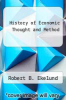 cover of History of Economic Thought and Method (3rd edition)