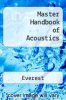 cover of Master Handbook of Acoustics (3rd edition)
