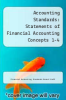 cover of Accounting Standards: Statements of Financial Accounting Concepts 1-4