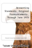 cover of Accounting Standards: Original Pronouncements, Through June 1973