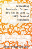 cover of Accounting Standards: Current Text (as of June 1, 1985) General Standards