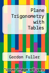 Cover of Plane Trigonometry with Tables 5TH 78 (ISBN 978-0070226128)