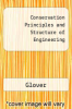 cover of Conservation Principles and Structure of Engineering (4th edition)