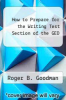 cover of How to Prepare for the Writing Test Section of the GED (2nd edition)