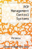 cover of PCP Management Control Systems