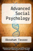cover of Advanced Social Psychology