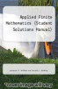 cover of Applied Finite Mathematics (Student Solutions Manual) (2nd edition)
