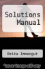 cover of Solutions Manual (1st edition)