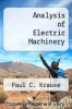 cover of Analysis of Electric Machinery