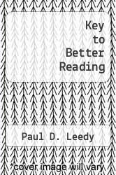 Cover of Key to Better Reading EDITIONDESC (ISBN 978-0070370234)