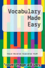 cover of Vocabulary Made Easy