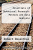 cover of Essentials of Behavioral Research: Methods and Data Analysis