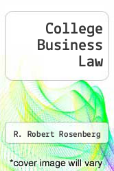 Cover of College Business Law 5 (ISBN 978-0070538856)