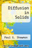 cover of Diffusion in Solids