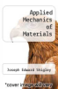 cover of Applied Mechanics of Materials