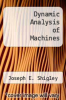 cover of Dynamic Analysis of Machines