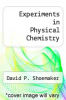 cover of Experiments in Physical Chemistry (3rd edition)