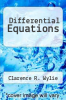cover of Differential Equations