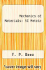 cover of Mechanics of Materials : SI Metric (2nd edition)