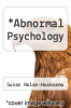 cover of Abnormal Psychology (3rd edition)