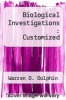 cover of Biological Investigations : Customized